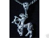 0324 sagittarius pendant charm zodiac sterling silver Real Sterling silver 925 pendant Charm jewelry