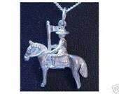 mounty police pendant charm horse silver jewelry Real Sterling silver 925 pendant Charm jewelry