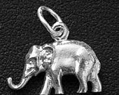 elephant trunk tusk pendant charm sterling silver 925 Real Sterling silver 925 pendant Charm jewelry