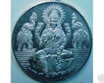 0650 lakshmi goddess om silver charm elephant hindu Real Sterling silver 925 pendant Charm jewelry
