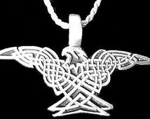 celtic eagle infinity knot charm pendant silver jewelry Real Sterling silver 925 pendant Charm jewelry