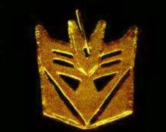 SS-0007 Transformers Decepticon real sterling SILVER Charm Gold Plated