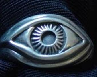SS-0417 Celtic Genuine Sterling Silver .925 Protection Evil Eye Ring Pick Your Ring Size We Have Sizes 3 to 14