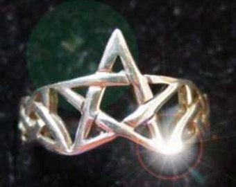 SS-0567 Celtic Pentagram Ring Infinity knot Sterling silver 925 Pick Your Ring Size We Have Sizes 3 to 14