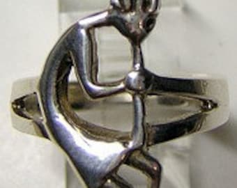 SS-1236 New tribal Tribal Deity Kokopelli ring Silver Jewelry Pick Your Ring Size We Have Sizes 3 to 14