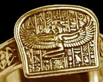 GP-2996 Egyptian Isis Goddess Ring egypt Jewelry Gold plated Pick Your Ring Size We Have Sizes 3 to 14