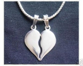 share heart split i love you silver 925 pendant charm Real Sterling silver 925 pendant Charm jewelry