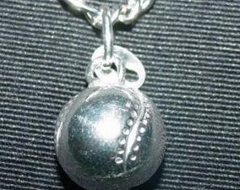 baseball pendant solid silver sports charm bat ball Real Sterling silver 925 pendant Charm jewelry