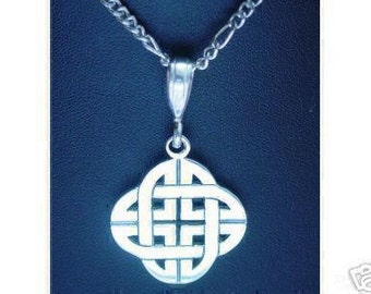 0447 celtic infinity knot silver charm good luck wicca Real Sterling silver 925 pendant Charm jewelry