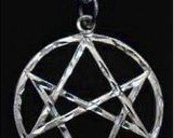celtic unicursal hexagram sterling silver charm wicca Real Sterling silver 925 pendant Charm jewelry