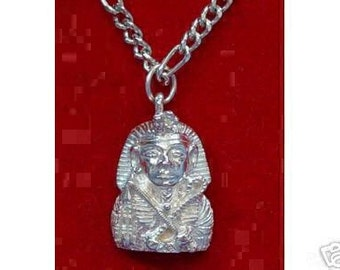 king tut egyptian pendant charm silver egypt Real Sterling silver 925 pendant Charm jewelry