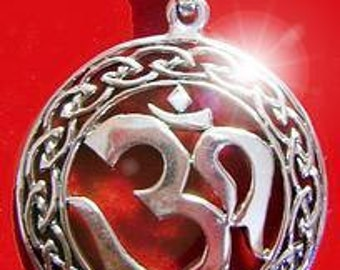 celtic infinity knot hindu om silver 925 charm pendant Real Sterling silver 925 pendant Charm jewelry