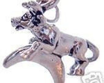 new cow jumped over the moon silver charm jewelry Real Sterling silver 925 pendant Charm jewelry