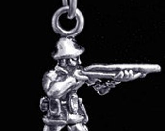 army soldier 925 silver pendant charm jewelry military Real Sterling silver 925 pendant Charm jewelry