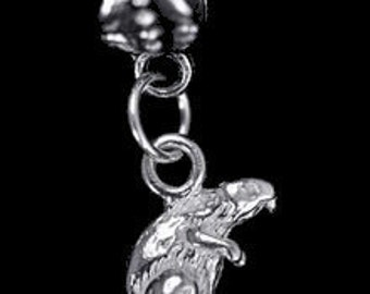 jewelry busy beaver bead sterling silver charm jewelry Real Sterling silver 925 pendant Charm jewelry