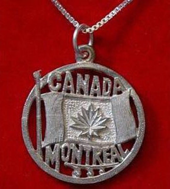 montreal quebec canada flag silver 925 pendant by On jewelry stores in montreal quebec
