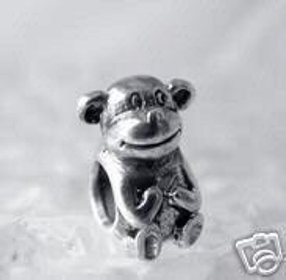 monkey charm bead for jewelry real sterling silver 925 Real Sterling silver 925 pendant Charm jewelry