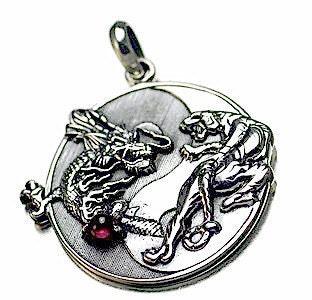 Prince of Diamonds: large yin yang dragon tiger real sterling ...