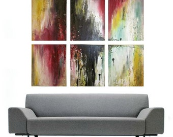 """HUGE Modern Original Abstract Contemporary Painting by Laura Gomez- 57""""X49"""""""