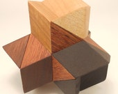 Four Corners puzzle (Stewart Coffin # 6)  - interlocking geometric puzzle
