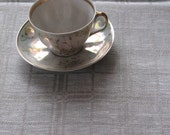 "Linen Tablecloth Natural White Gray 98,4"" x 59,05"""