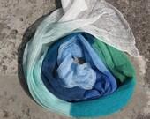 Linen Scarf Shawl Wrap Stole Multicolored, Light, Transparent. . .