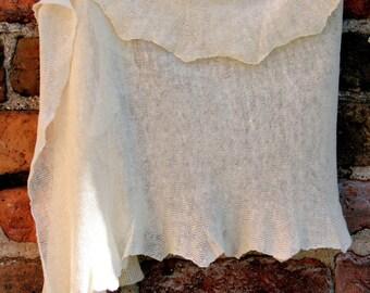 Linen Scarf Shawl Wrap Stole white