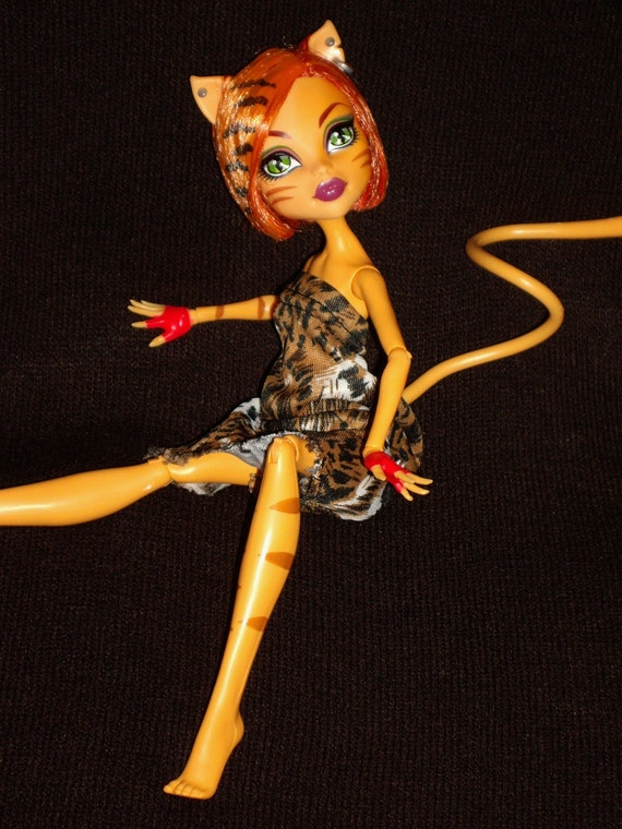 Monster High Doll Clothes, Toralei's Animal Attraction Swing Style Dress