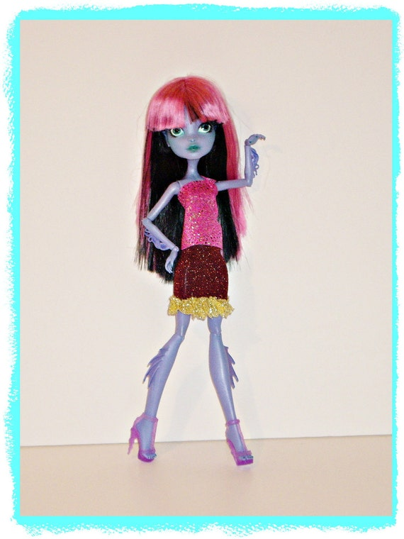 Monster High Doll Clothes Outfit, Sparkling Multicolor Mashup