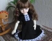 """Kawkana - Sweet black dress for YoSD, LTF, 1/6 dolfie """"YoSD11-06"""""""