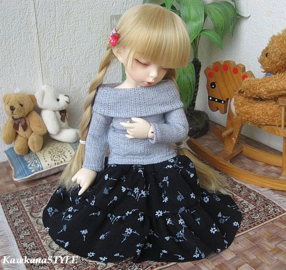 Kawkana - Sweather and ruffled skirt for YoSD, LTF, 1/6 dolfie