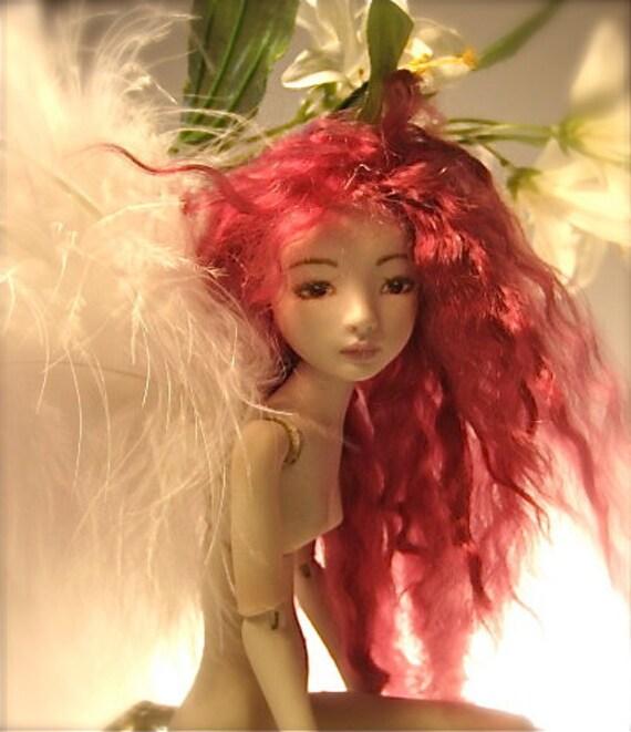 Porcelain Ball Jointed Doll, OOAK Art Doll