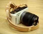 Leathermind Camera Leather Strap ( Vegetable Tanned Leather )