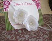 petite posie headband in white