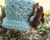 Crossed Cluster Newsboy hat with a Rose - Made To Order