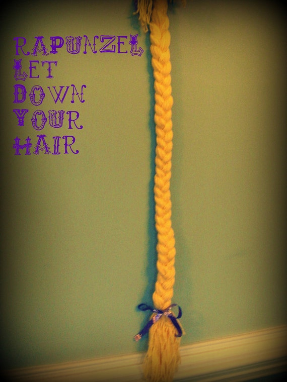 RAPUNZEL Let Down Your fabulous golden Hair braid for a TANGLED party