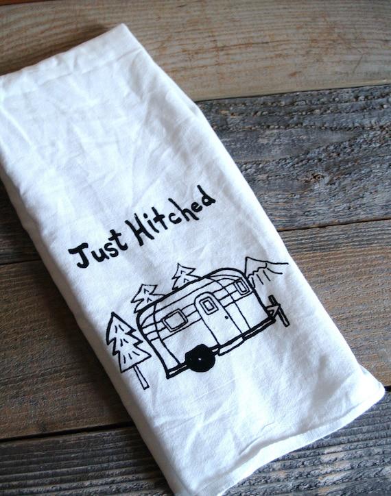 Wedding Gift Tea Towels : ... Wedding Tea TowelScreen PrintedWedding Gift FavorVintage