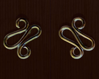 Delaforja (Pair) Scroll Cupboard/ Furniture Handles in Chrome by Nyree L Smith