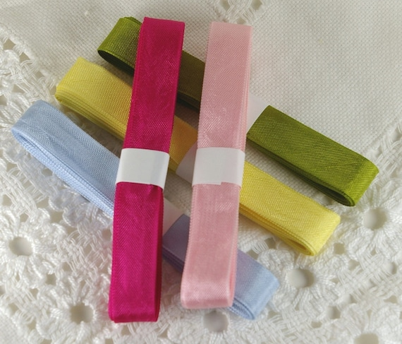 Seam Binding Ribbon Pack-5 assorted colors