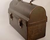 Vintage Industrial Lunchbox Pail Metal