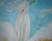 """Reproduction of """"Woman with Parasol, Turned to Left"""""""