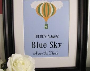 Blue Skies & Hot Air Balloon Digital Print