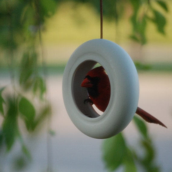 Modern Bird Feeder - Handmade Fine Porcelain