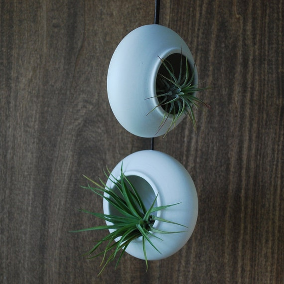 Set of Two Round Hanging Air Planters