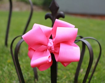 Girls Hot Pink Hair Bow