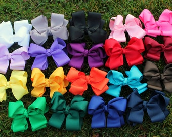 Boutique Hair Bow Set - HairBow Package - Bow Sale Pick Any 5 -