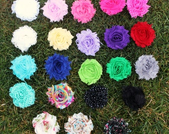 SALE Shabby  Chic Baby Flower Clip Package - Any 3 Colors-