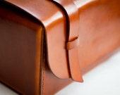 Leather Dopp Kit - Saddle Tan