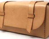 Leather Dopp Kit - Natural