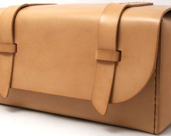 Leather Dopp Kit - Natural